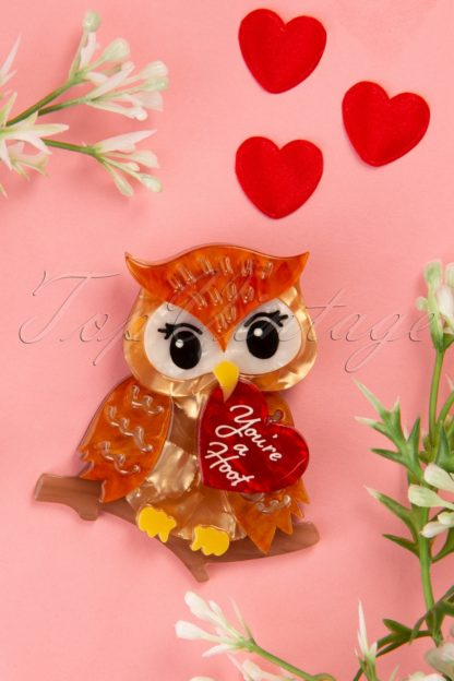 TopVintage exclusive ~ 60s You're a Hoot Brooch