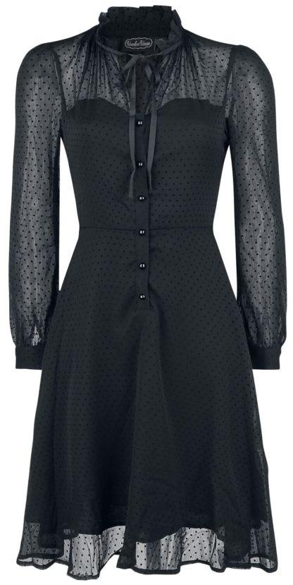 Voodoo Vixen Acid Doll Dark Marionette Dress Mittellanges Kleid schwarz