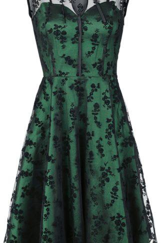 Voodoo Vixen Emerald Mittellanges Kleid grün
