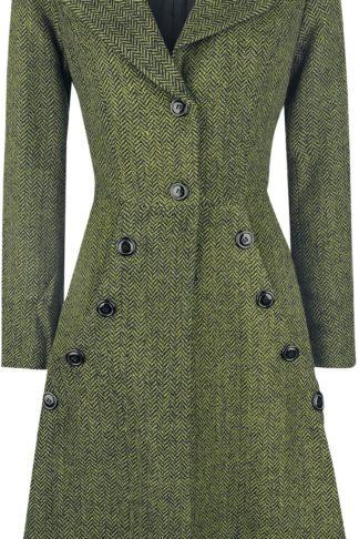 Voodoo Vixen Nicole Green 40s Style Coat Mantel oliv