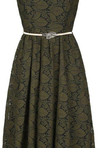 Voodoo Vixen Sophia Vintage Mittellanges Kleid grün