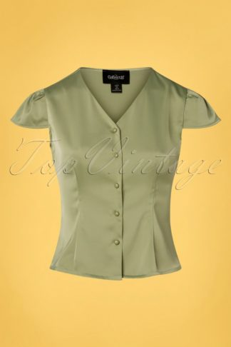 40s Rosanna Blouse in Green