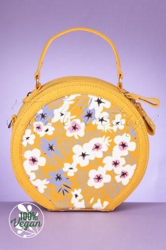 50s Alberta Round Handbag in Ochre