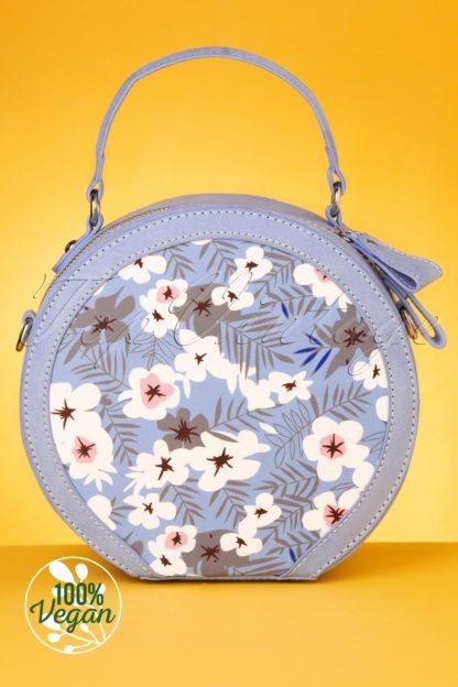 50s Alberta Round Handbag in Sky Blue