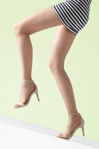 50s Better Than Bare Luxury Sandal Toe Tights in Natural Glow