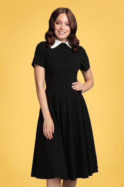 50s Brina Swing Dress in Black