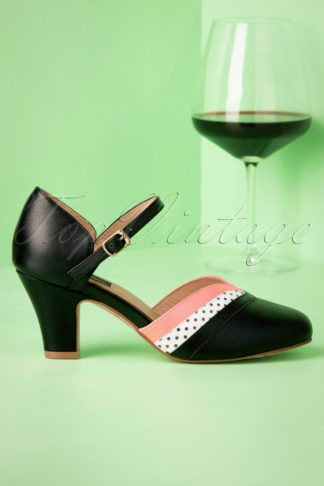 50s Brioso Ava Pumps in Black