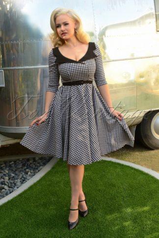 50s Britt Swing Dress in Gingham