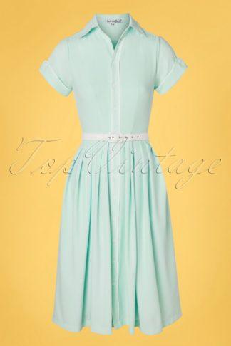 50s Day Swing Dress in Sky Blue