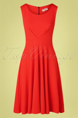50s Emery Swing Dress in Fiesta Red