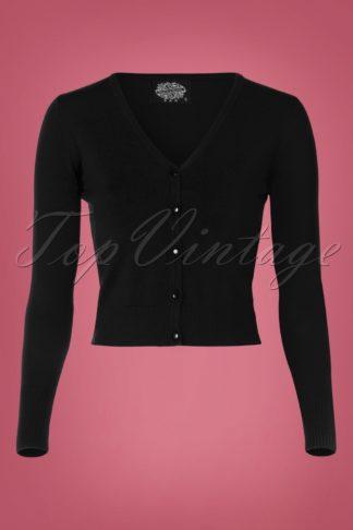 50s Eva Cardigan in Black
