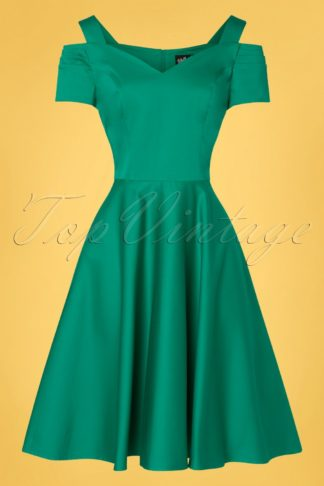 50s Helen Swing Dress in Sea Green