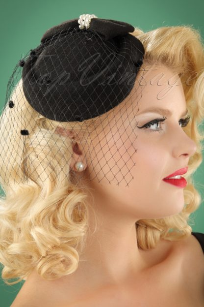 50s Judy Hat in Black