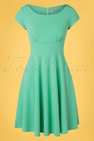 50s Kimberley Swing Dress in Mint Green