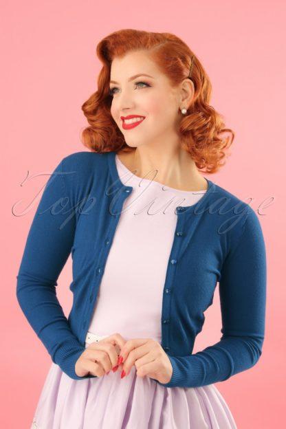 50s Paloma Cardigan in Blue