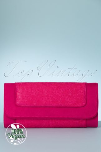 50s Tirana Clutch in Fuchsia