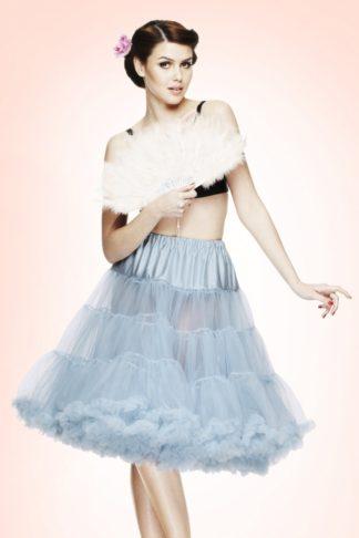 50s retro Petticoat chiffon Sky Blue