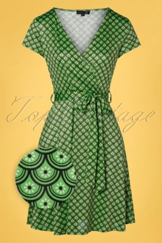 60s Arya Dress in Green