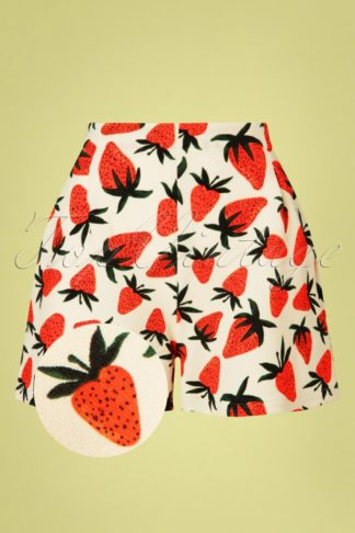 60s Fresas Shorts in Cream