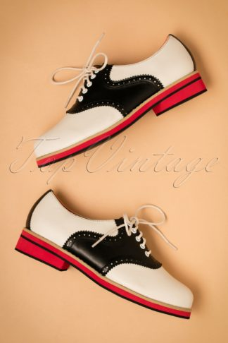 60s Old Soul Dancer Shoes in White and Black