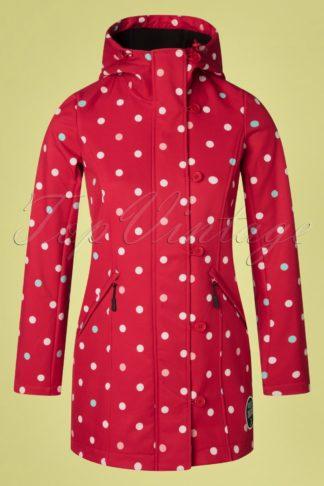 60s Talia Polkadot Jacket in Red