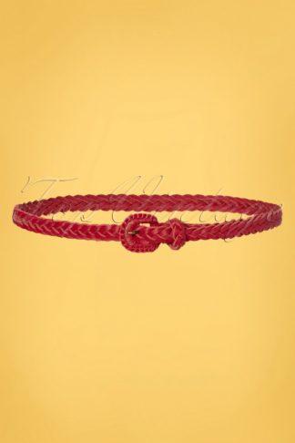70s Braidy Belt in Chili Red
