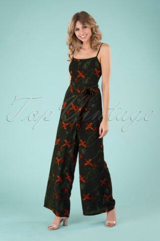 70s Edda Phoenix Jumpsuit in Black
