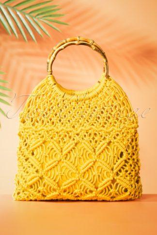 70s Macrame Bag in Sunny Yellow