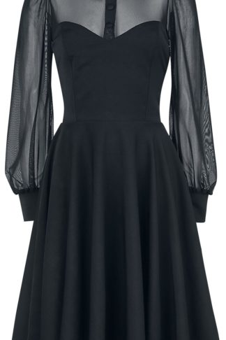 Belsira Lacedress Mittellanges Kleid schwarz