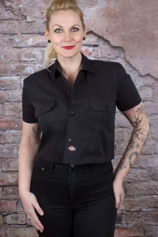 Dickies - Damen Cropped Shirt Silver Grove von Rockabilly Rules