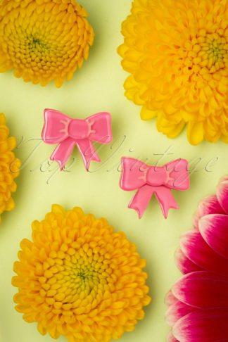 TopVintage Exclusive ~ 60s Ravishing Ribbons Earrings in Pink