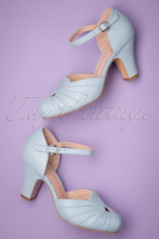 40s Amber Mary Jane Pumps in Light Blue