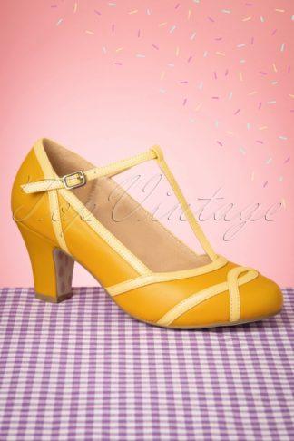 50s Ava Giorno d'Estate Pumps in Sunny Yellow