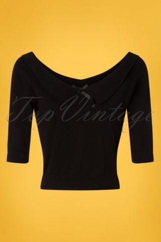 50s Babette Jumper in Black
