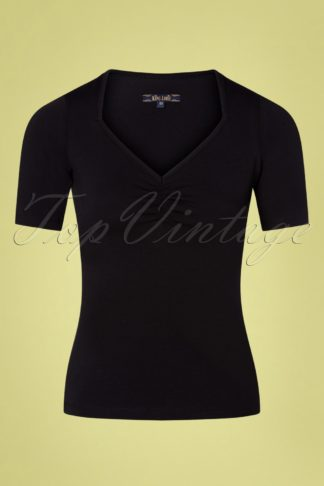 50s Diamond Top in Black