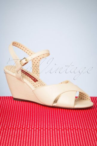 50s Dima Wedge Sandals in White