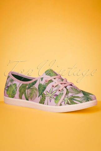 50s Grace Jungle Sneakers in Pink