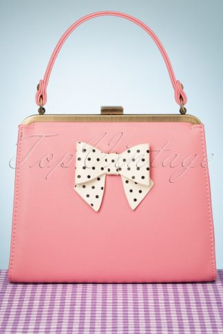 50s Inez Carina Bow Bag in Pink