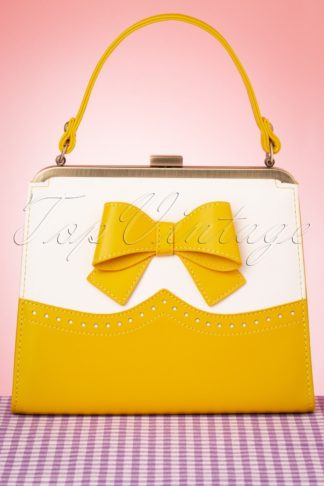 50s Inez Classica Bag in Yellow and White