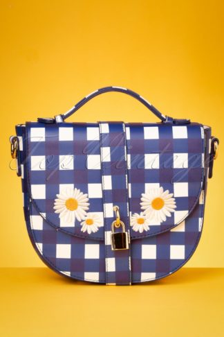 50s Lydia Gingham Bag in Blue