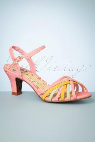 50s Margot Strappy Sandals in Pink