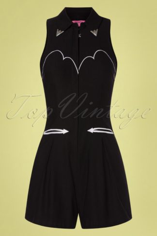 50s Mojave Playsuit in Black