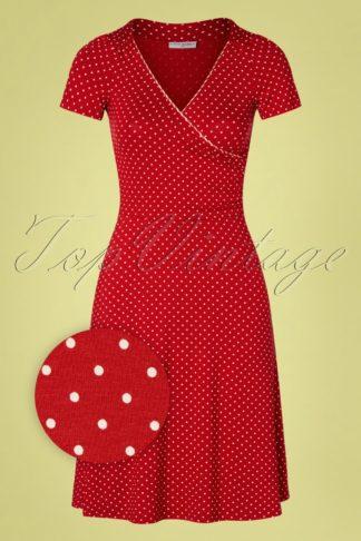 50s Monaco Polkadot Dress in Red