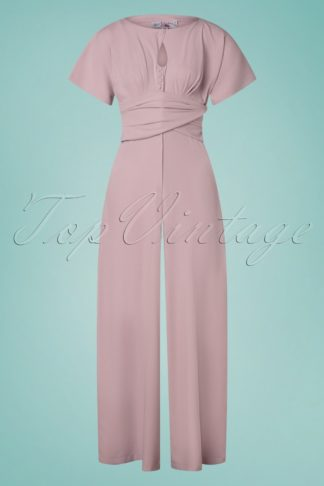 50s Narin Helio Jumpsuit in Mauve