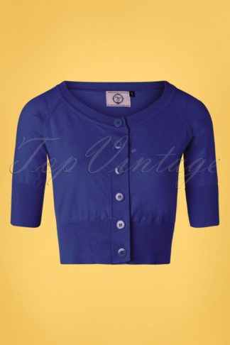 50s Raven Cardigan in Royal Blue