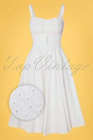 50s Sidney Swing Dress in Ivory