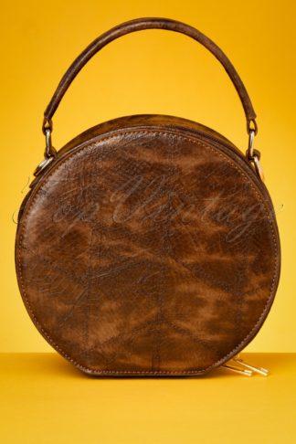 50s Tara Snake Bag in Brown