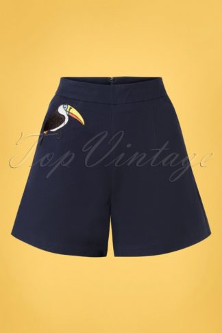 50s Toucan Shorts in Navy