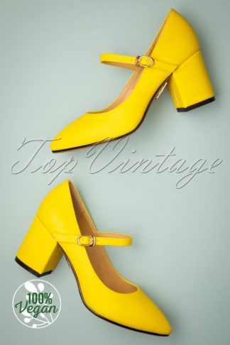 60s Bath Pumps in Pineapple Yellow