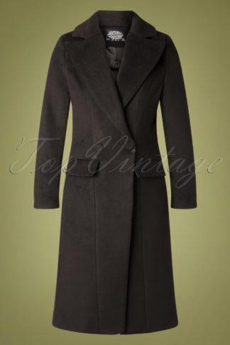 60s Eloise Vintage Coat in Black